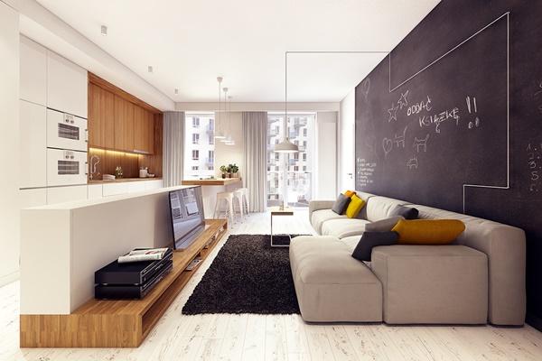 Căn hộ Scandinavian với thiết kế nội thất đơn giản ấm áp