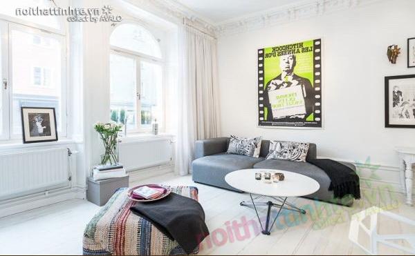 Căn hộ chung cư 47m2 sang trọng ở Stockholm