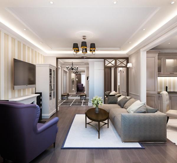 Căn hộ chung cư cao cấp phong cách tân cổ điển