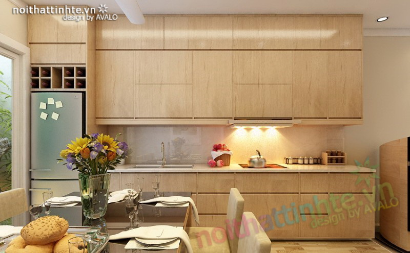 Không gian Bếp ăn hiện đại cho nhà lô phố