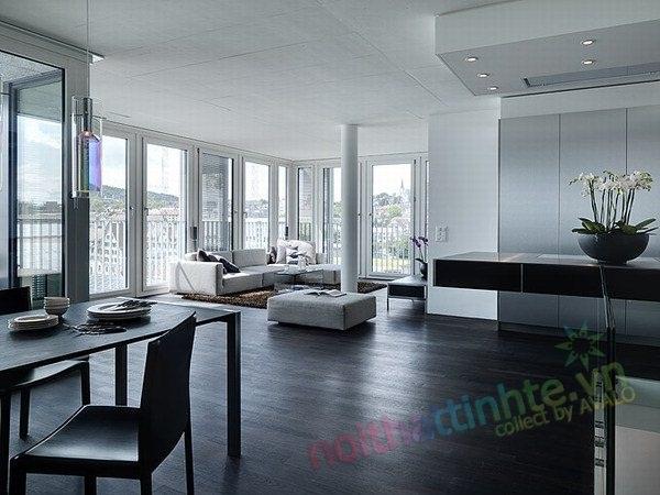 Không gian đẹp hiện đại với căn hộ 2 tầng ở Zurick