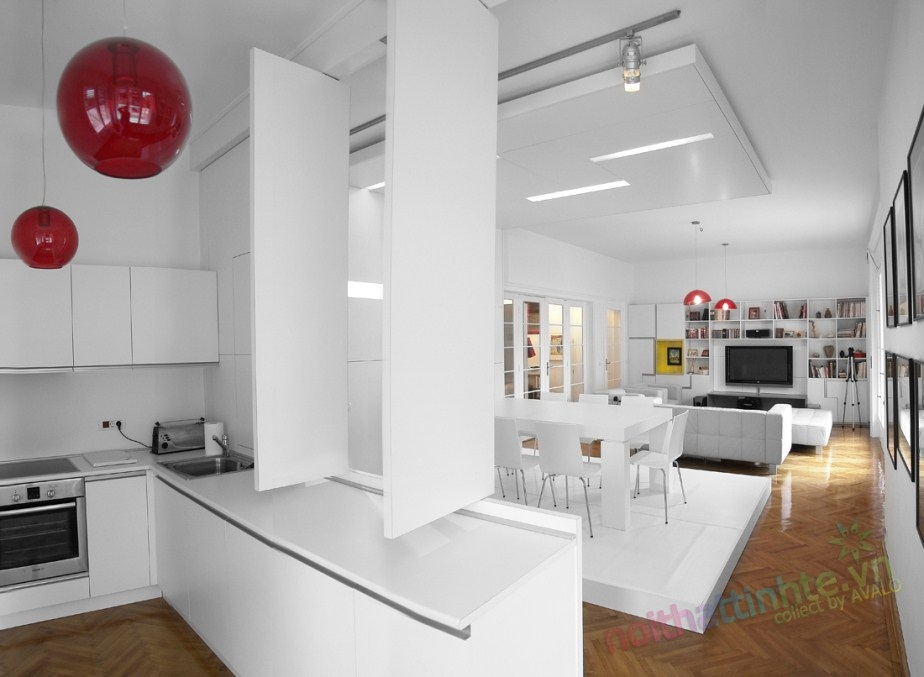 Không gian nhà đẹp : Căn hộ trắng ở Timisoara