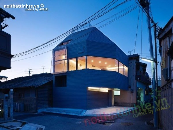 Mẫu nhà cấp 4 đẹp với hình dạng bất thường ở Nhật Bản