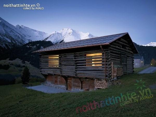 Mẫu nhà cấp 4 đẹp với khung cảnh ngoạn mục ở Thụy Sỹ