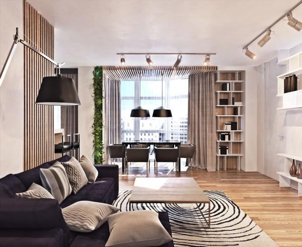 Mẫu nhà chung cư hiện đại với nhiều không gian mở
