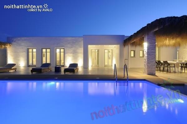 Mẫu nhà đẹp 1 tầng ở vùng quê Paros – Hy Lạp