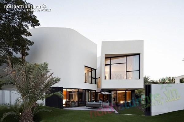 Mẫu nhà đẹp 2 tầng hình tròn ở Kuwait