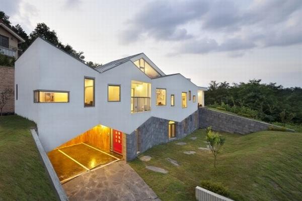 Mẫu nhà đẹp 2 tầng Panorama House ở Hàn Quốc