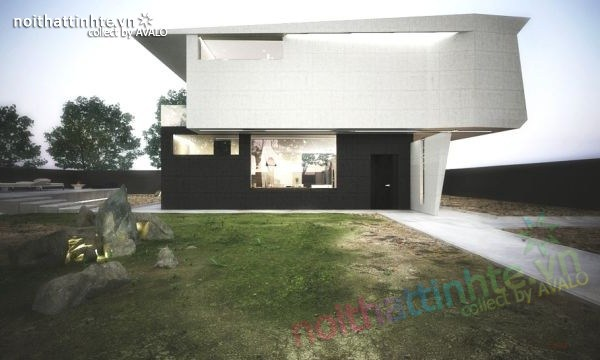 Mẫu nhà đẹp 2 tầng với hình thức độc và thiết kế hiện đại