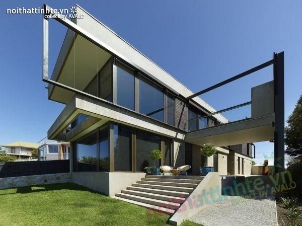 Mẫu nhà đẹp 2 tầng với kiến trúc hiện đại
