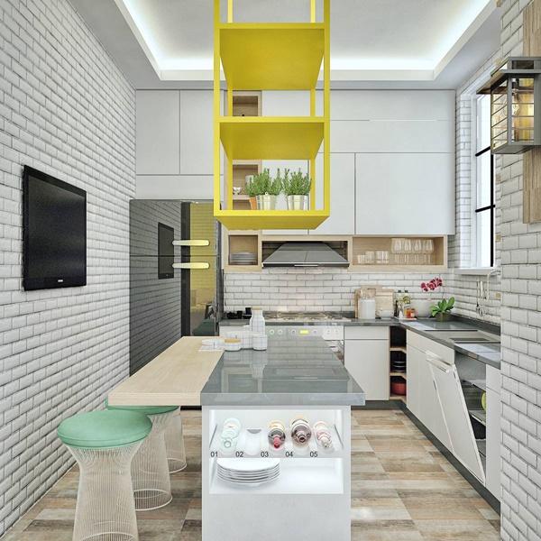 Mẫu nội thất bếp ăn đầy cuốn hút với phong cách Bắc Âu