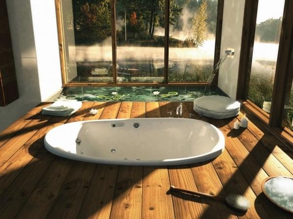Mẫu thiết kế nhà tắm xanh thân thiện với thiên nhiên