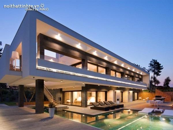 Mẫu nhà đẹp 2 tầng với thiết kế hiện đại