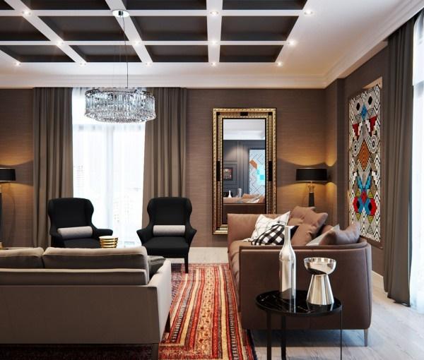 Nội thất căn hộ phong cách với các tính năng cổ điển ấn tượng
