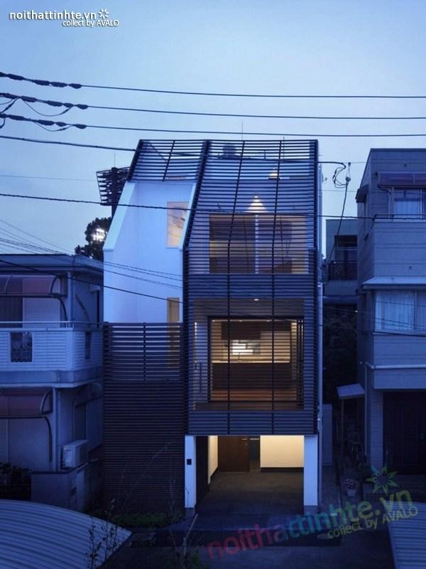 Ngôi nhà đẹp 3 tầng tối đa hóa không gian ở Nhật Bản