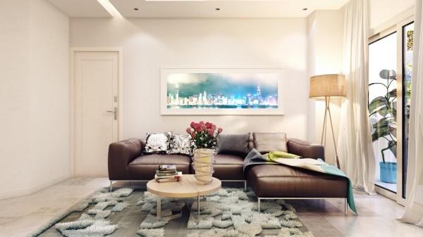 Thiết kế chung cư nhỏ thoáng rộng với gam màu nhẹ nhàng