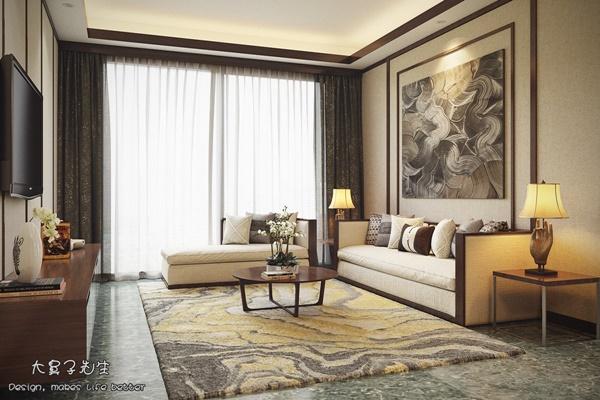 Nhà đẹp với cảm hứng nội thất Trung Hoa