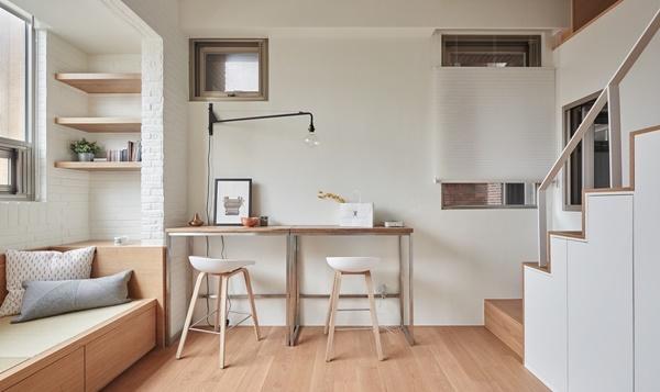 Nhà nhỏ 22m2 được thiết kế nội thất thông minh