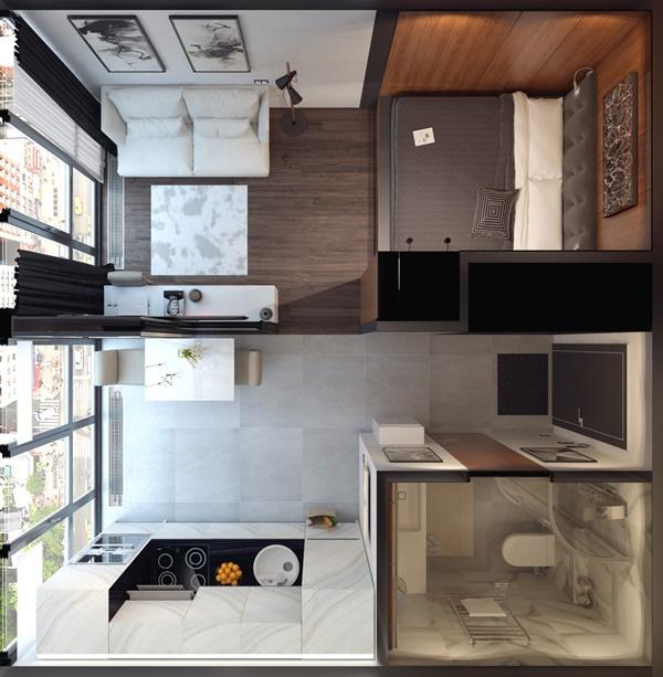 Thiết kế nội thất nhà nhỏ 30m2 đẹp và tiện nghi