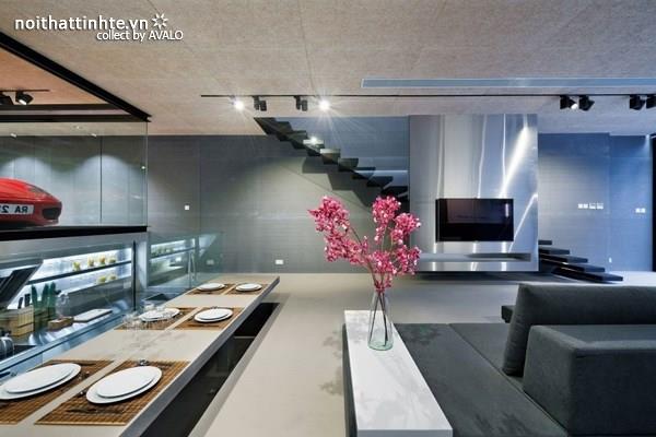 Nhà đẹp 2 tầng với phòng khách độc đáo