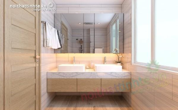 Nhà tắm đơn giản hiện đại ở Cái Lân