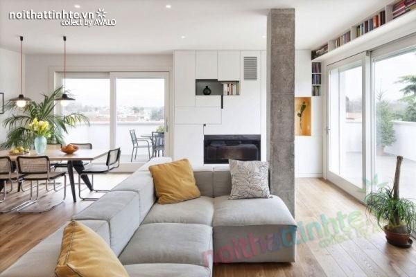 Nội thất chung cư đẹp được thiết kế tinh tế bằng gỗ