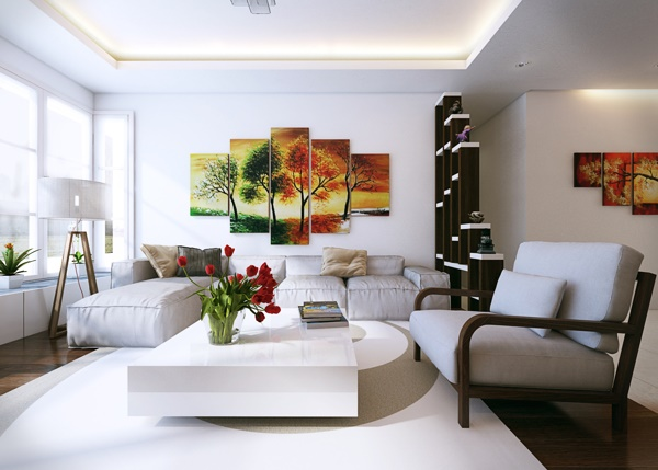 Nội thất chung cư đẹp với gam màu trắng - đen