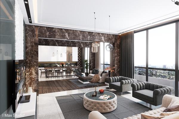 Chất cổ điển trong thiết kế nội thất chung cư hiện đại