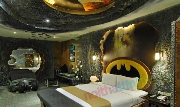 Nội thất khách sạn theo chủ đề Batman