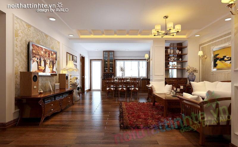 Phòng khách Á Đông đương đại Việt Hưng
