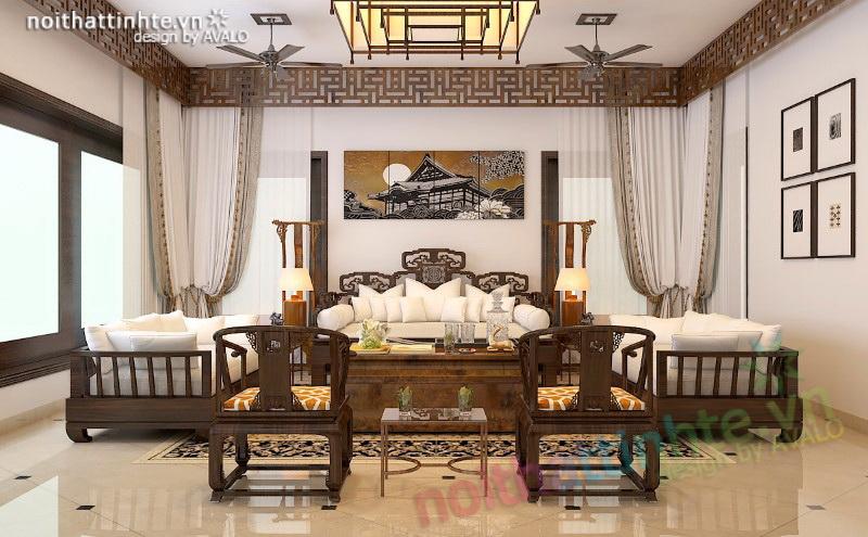 Phòng khách cao cấp biệt thự nghỉ dưỡng Sóc Sơn