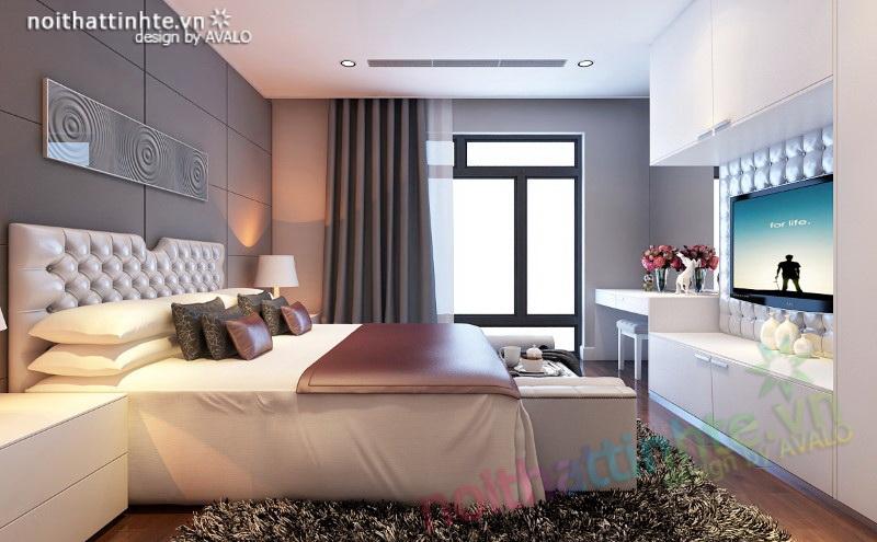 Phòng ngủ lãng mạn phong cách hiện đại Royal City