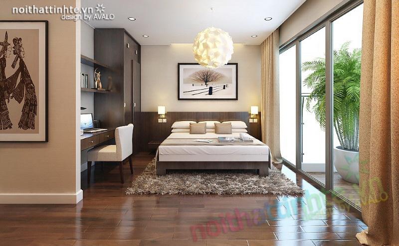 Phòng ngủ Master hiện đại Mandarin Garden