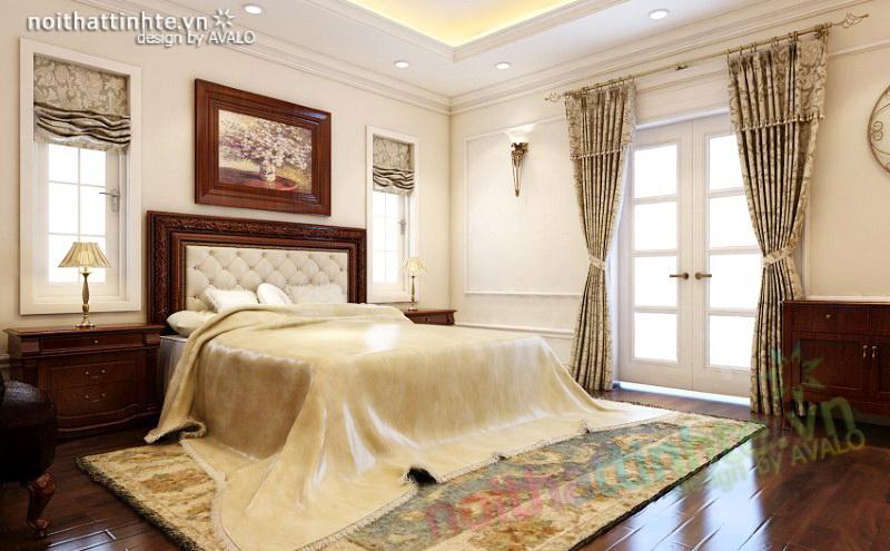 Phòng ngủ Master Tân cổ điển Vincom Village Sài Đồng