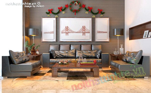 Phòng khách hiện đại sang trọng ở Palm Garden