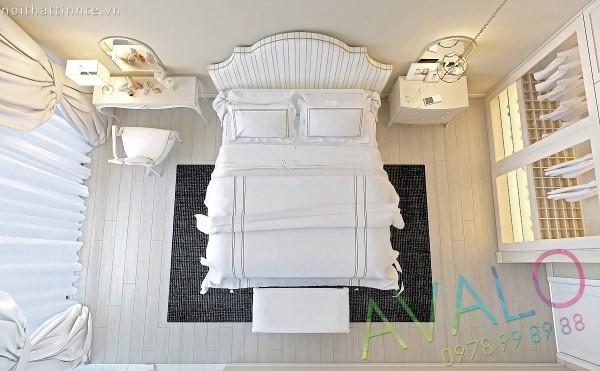 Thiết kế phòng ngủ phong cách Tân Cổ Điển AvaloN-2