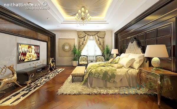 Phòng ngủ Master đẳng cấp Tân cổ điển Châu Âu