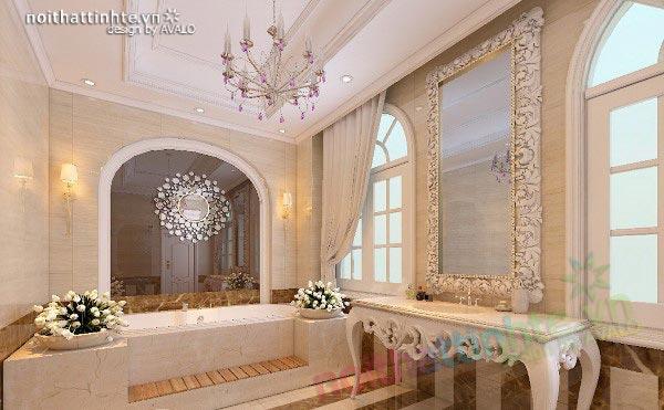 Phòng tắm đẹp Biệt thự Bình Dương Tân cổ điển