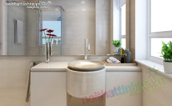 Phòng tắm hiện đại trong nhà lô phố