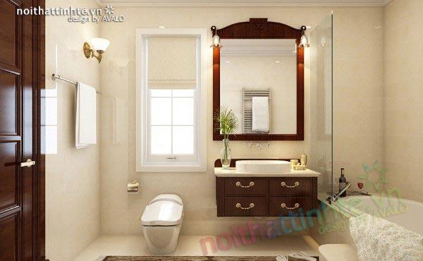 Phòng tắm tân cổ điển sang trọng Vincom Village