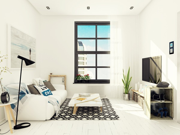Sử dụng màu trắng thông minh trong thiết kế nội thất