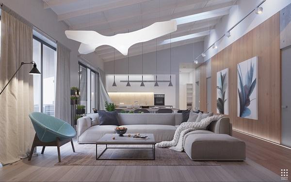 Thiết kế ấn tượng của một căn hộ hiện đại