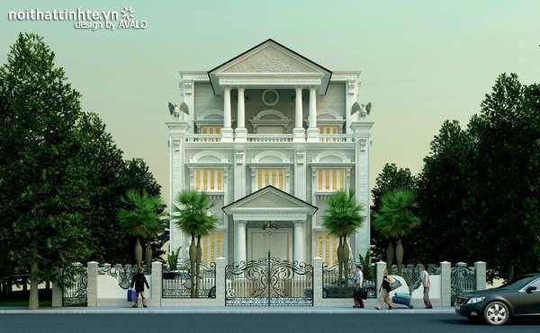 Thiết kế biệt thự cổ điển - Anh Kim Tây Tựu