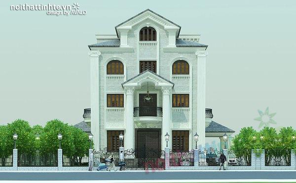 Thiết kế kiến trúc biệt thự đẹp theo phong cách Pháp cổ