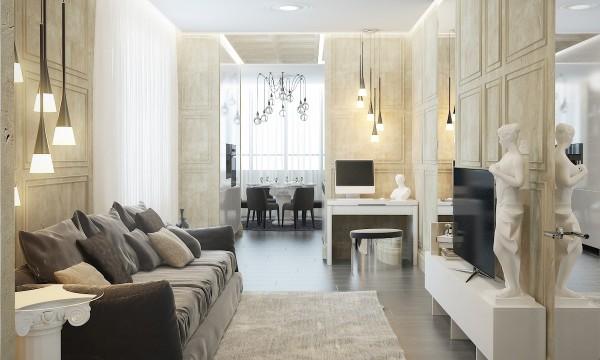 Thiết kế căn hộ hiện đại với các tính năng cổ điển