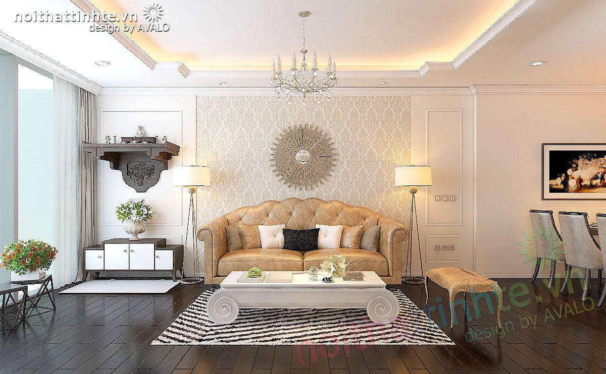 Thiết kế chung cư cao cấp Viglacera chị Hương - Thăng Long number One