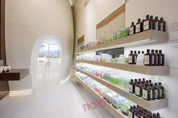 Thiết kế cửa hàng mỹ phẩm Ahava