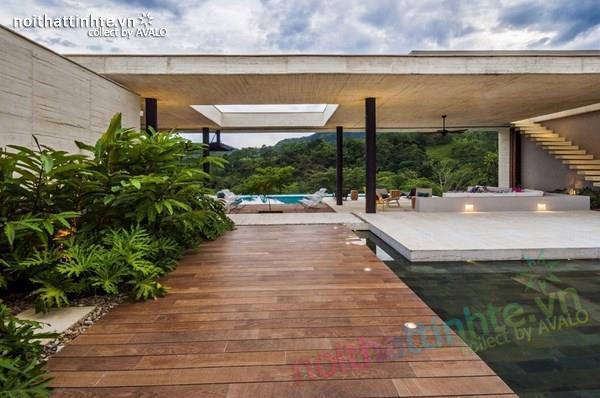 Thiết kế nhà đẹp 1 tầng trên núi với cảnh quan đẹp