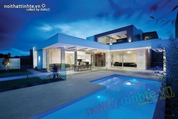 Thiết kế nhà đẹp 2 tầng kiểu dáng đẹp Hawthorn Residence