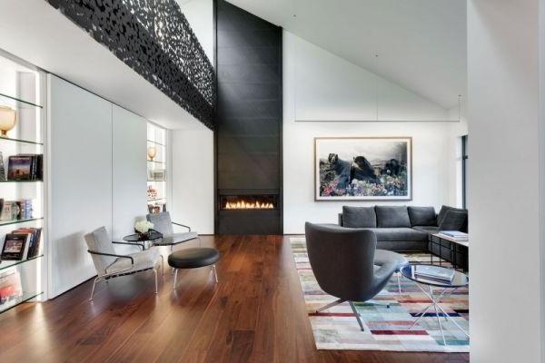 Thiết kế nhà đẹp 2 tầng  với nội thất tinh tế ở Montreal, Canada